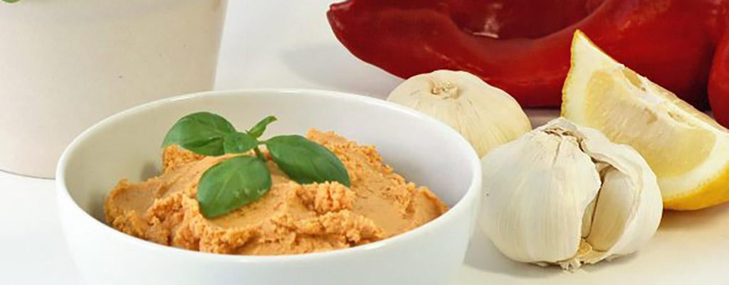 Hummus met Sukrin sesammeel