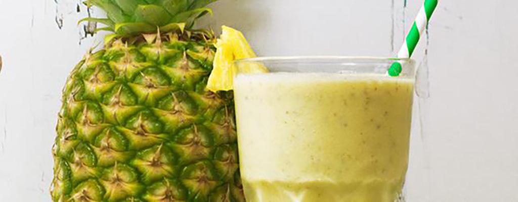 Vezelrijke ananas-kokos smoothie!