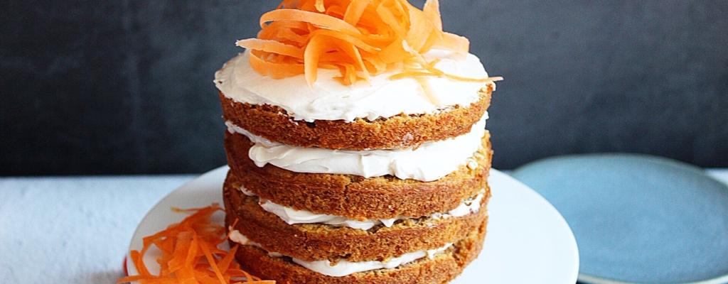 Suikerarme carrot cake