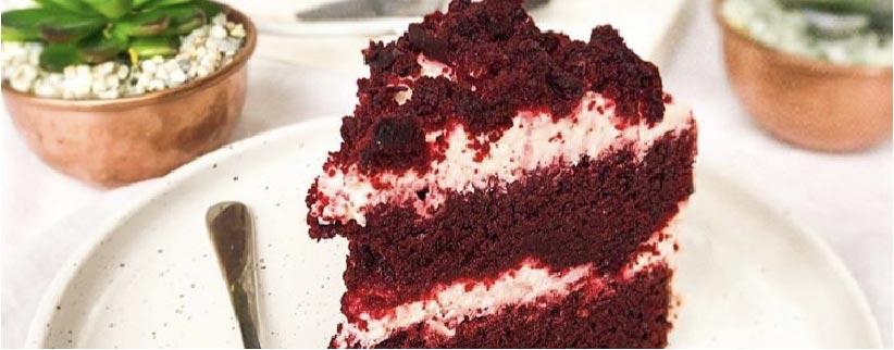 Suikerarme Red velvet cake