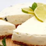 Gezonde mojito kwarktaart - Sukrin suikervervanger - Fitfoodjoy